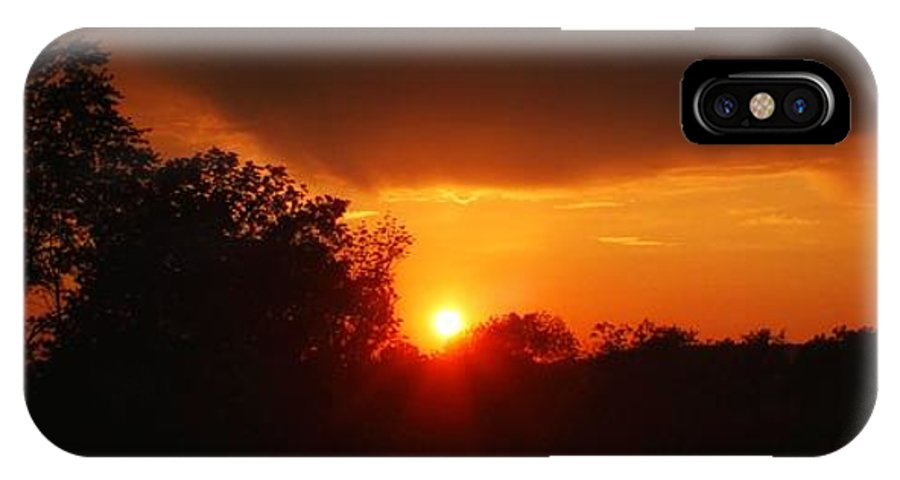 IPhone X Case featuring the photograph Sunset Over Blackburne 2 by Chet B Simpson