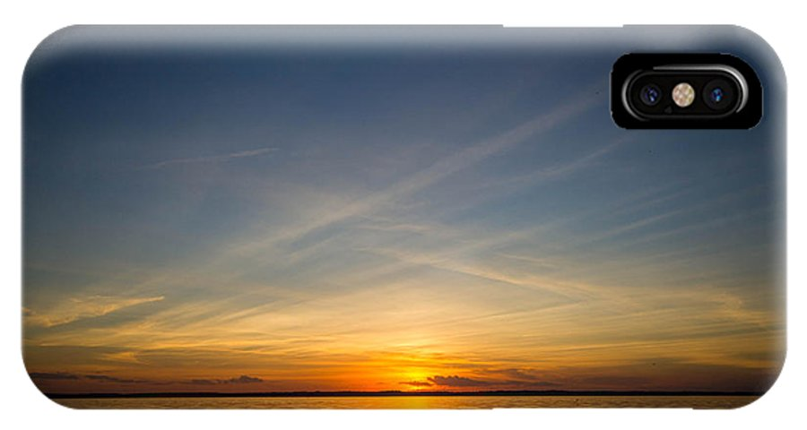 Landscape IPhone X Case featuring the photograph Sunset Over Lake Livingston 6 by Brandi Korte
