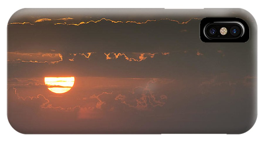 Rochester IPhone X Case featuring the photograph Sunset Over Rochester by Philip Rispin
