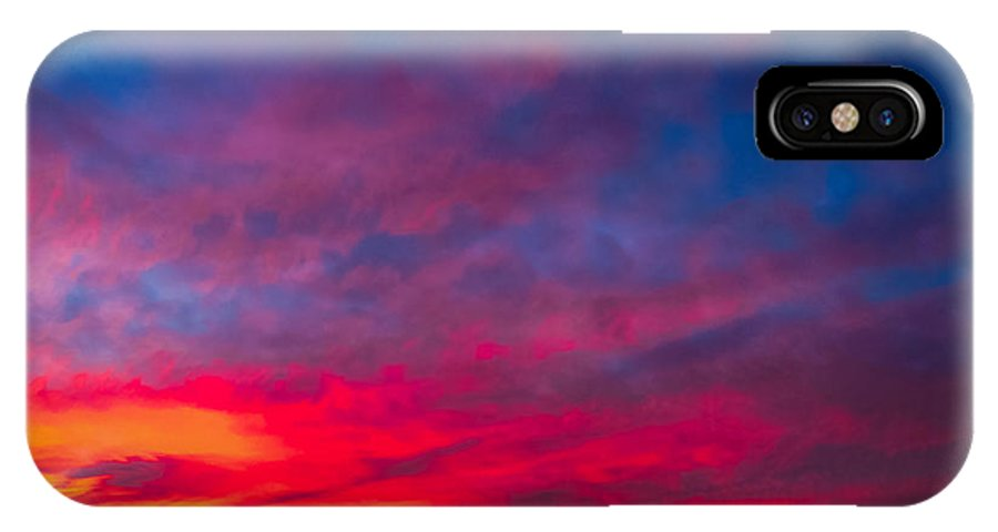 Sunset IPhone X Case featuring the photograph Sunset Over Swansea Tasmania by Gareth Burge Photography