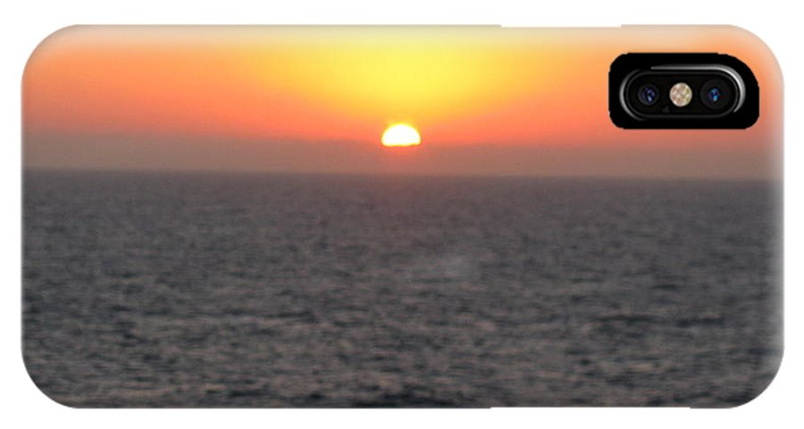 Ocean IPhone X Case featuring the photograph Sunset Over The Caribbean by Sandras