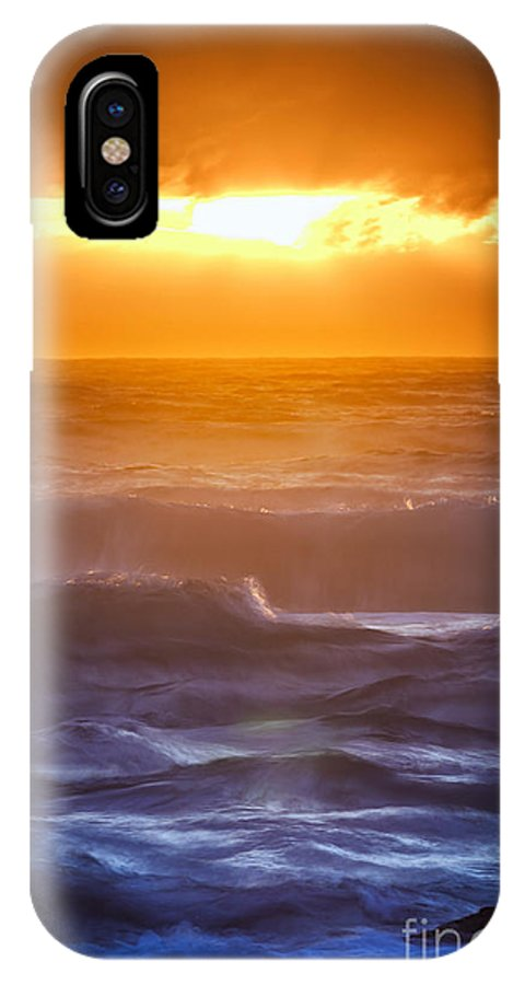 Sunset IPhone X Case featuring the photograph Sunset Over The Ocean IIi by Katka Pruskova