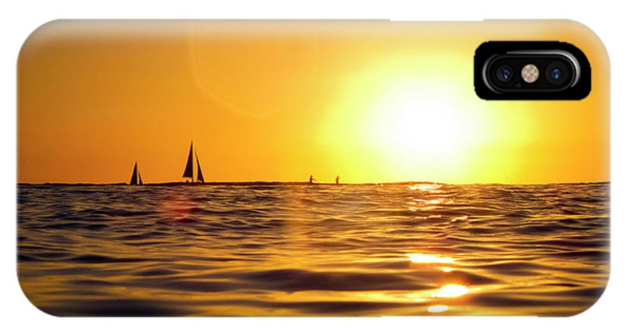 Beauty In Nature IPhone X Case featuring the photograph Sunset Over The Water In Waikiki by Elyse Butler