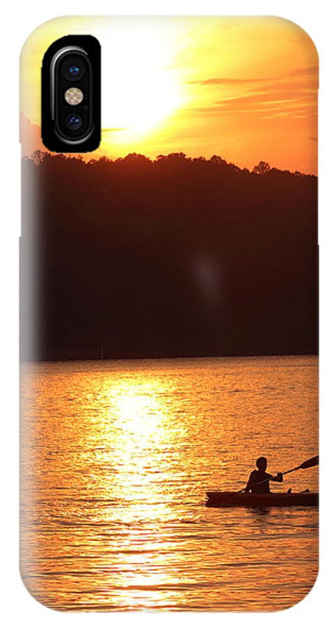 Sunset IPhone X Case featuring the photograph Sunset Paddle by Andre Turner