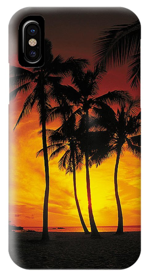 Sunset IPhone X Case featuring the photograph Sunset Palms by Richard Cheski
