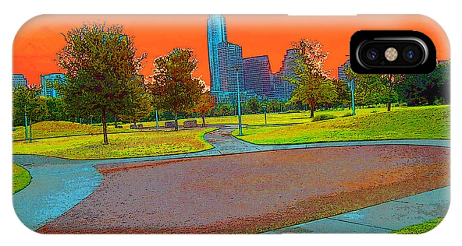 Sunset Park Austin Texas Home Walk Day IPhone X Case featuring the digital art Sunset by Phillip Mossbarger