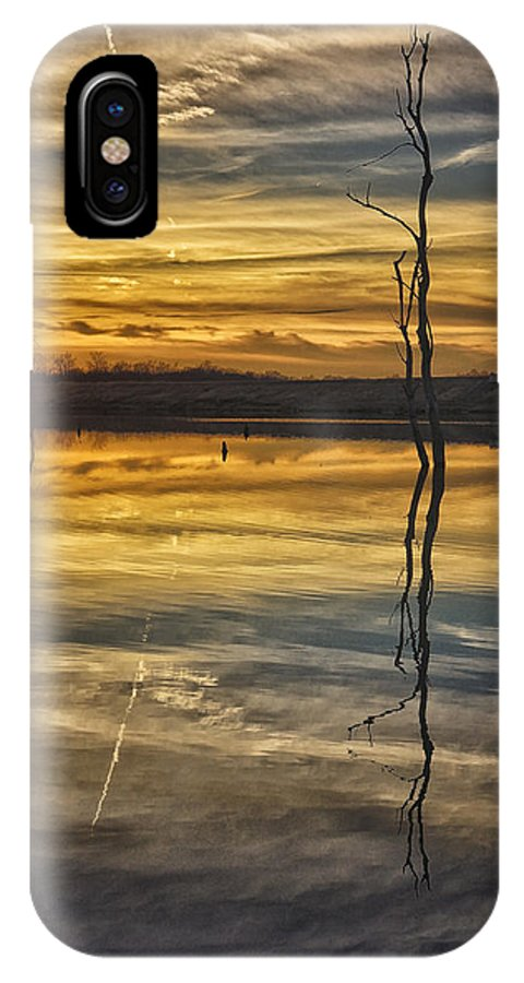 Sunset IPhone X Case featuring the photograph Sunset Riverlands West Alton Mo Dsc03317 by Greg Kluempers