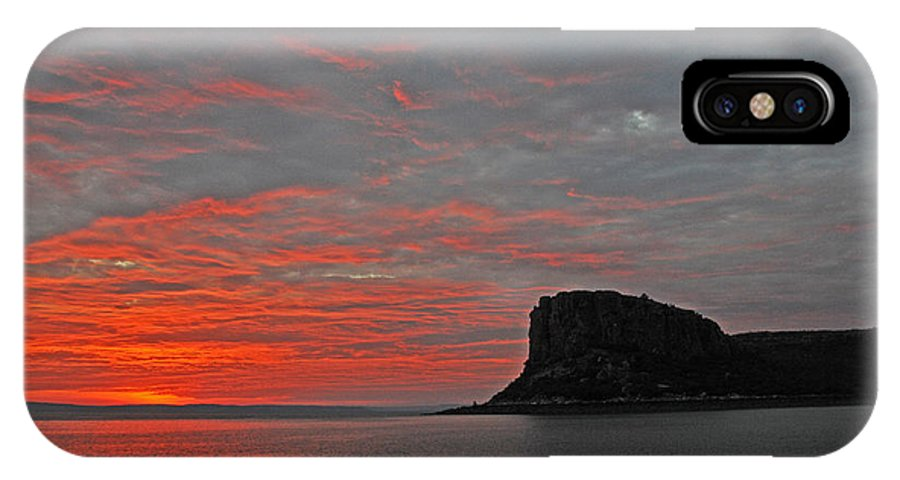 Stunning Photograph IPhone X Case featuring the photograph Sunset Rock by Casey Herbert