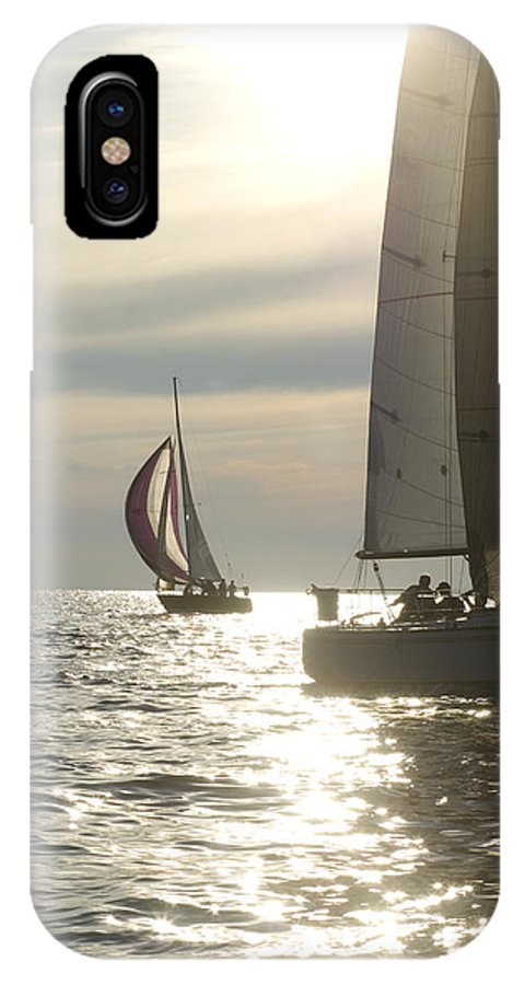 Sailing IPhone X Case featuring the photograph Sunset Sailing by Felixco