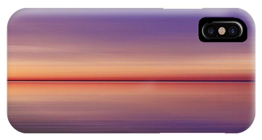 Night Photographs IPhone X Case featuring the photograph Sunset Sea by Mihai Medves