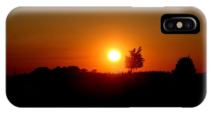 East Hampton IPhone X / XS Case featuring the photograph Sunset Silhouette by Karen Silvestri
