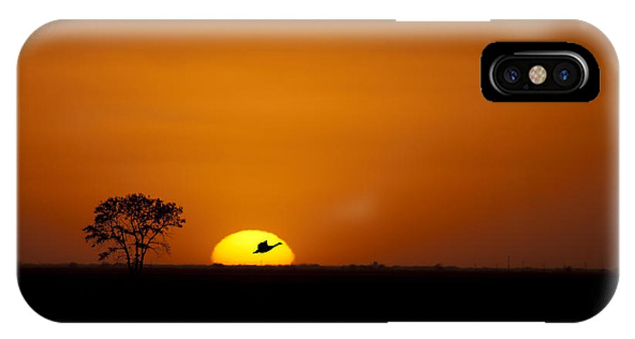 Sunset Photograph IPhone X Case featuring the photograph Sunset Silhouette by Nebojsa Novakovic