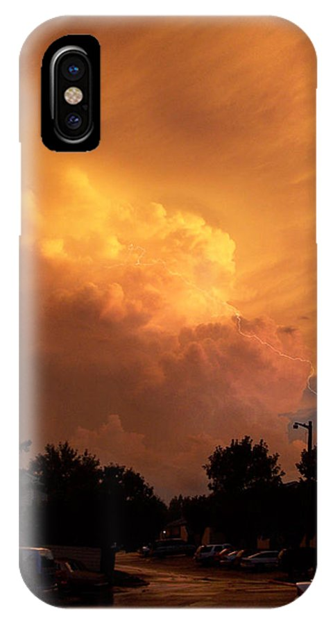 Sunset IPhone X Case featuring the photograph Sunset Storm by Nick Mosher