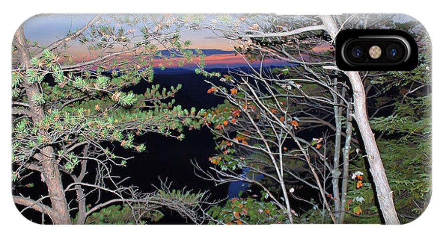 Sunset IPhone X Case featuring the photograph Sunset Thru The Pines by Aimee L Maher ALM GALLERY