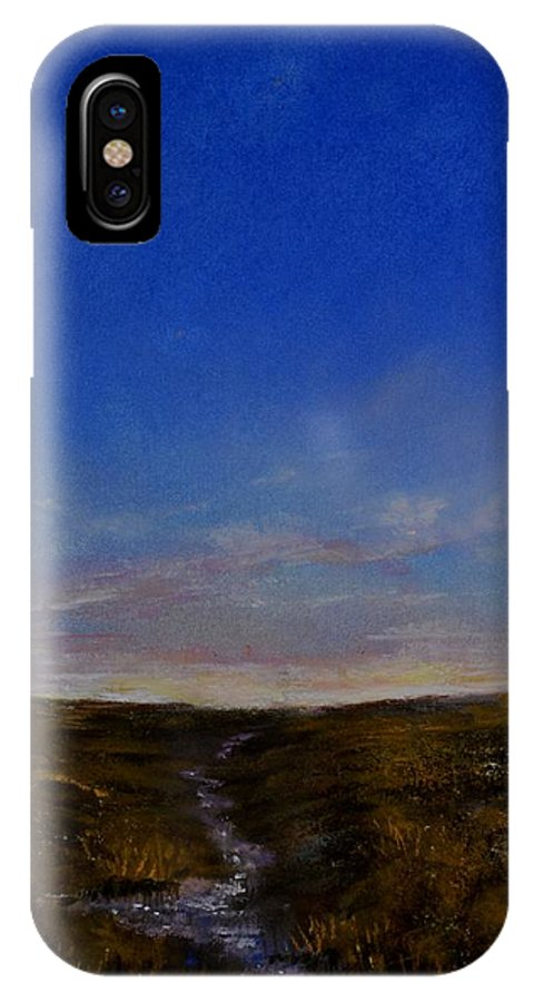 Sunset IPhone X Case featuring the painting Sunset by Zbynek Jablonecky