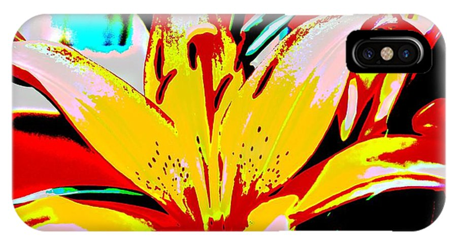 Flowers IPhone X / XS Case featuring the photograph Sunshine And Flowers by Ira Shander