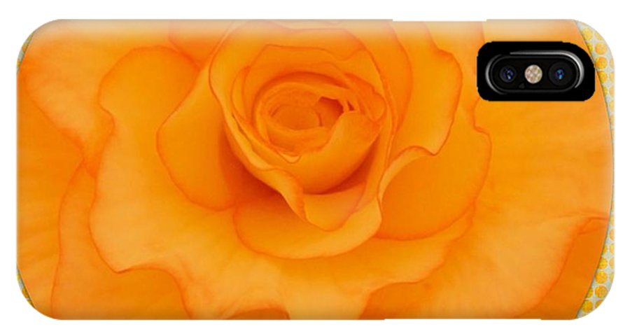 Begonia IPhone X / XS Case featuring the photograph Sunshine Begonia by Joan-Violet Stretch