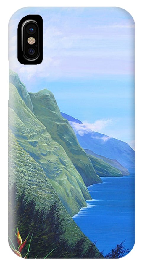 Landscape IPhone X Case featuring the painting Sunshine in the Shade by Hunter Jay