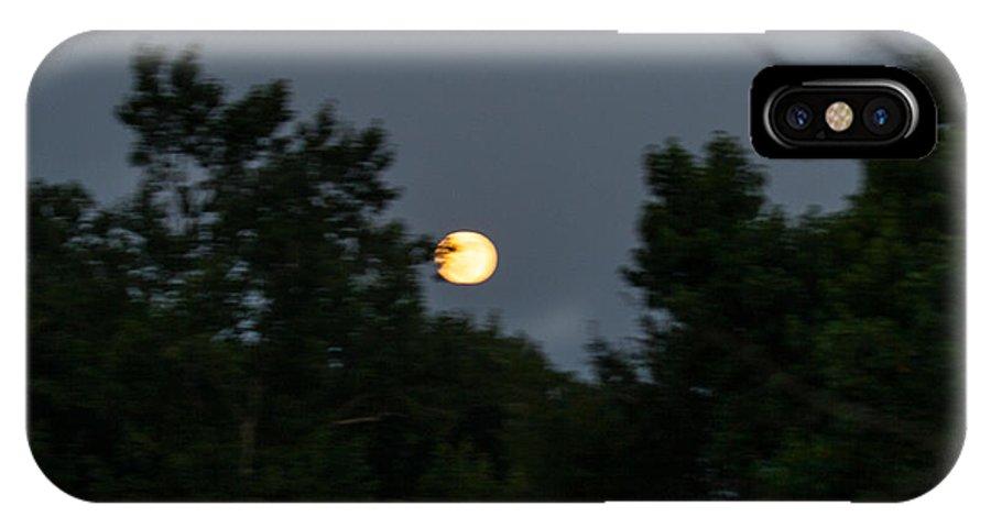 Rising Moon IPhone X Case featuring the digital art Super Moon 2013 by Jinx Farmer