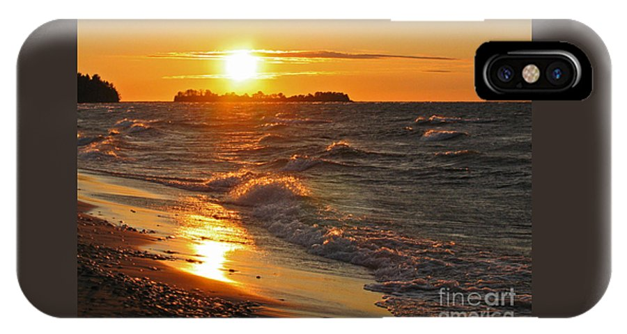 Sunset IPhone X Case featuring the photograph Superior Sunset by Ann Horn