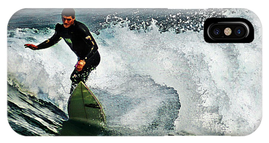 Surfer IPhone X Case featuring the photograph Surfer 5 by Ben Yassa