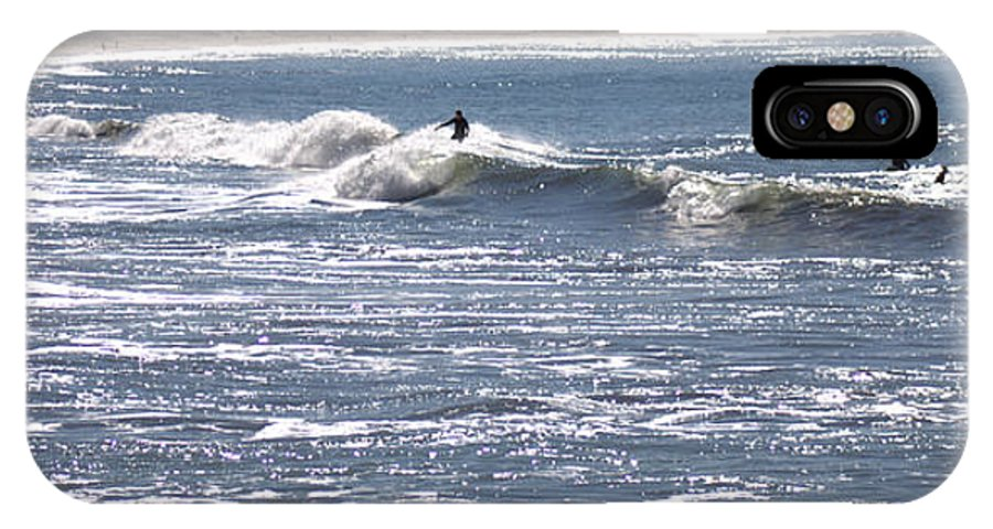 Ocean IPhone X Case featuring the photograph Surfer by Daniel Jakus