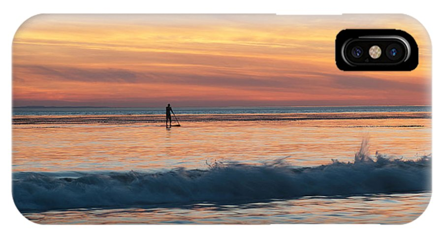 Surfing Into The Sunset IPhone X Case featuring the photograph Surfing Into The Sunset by Sammy Miller
