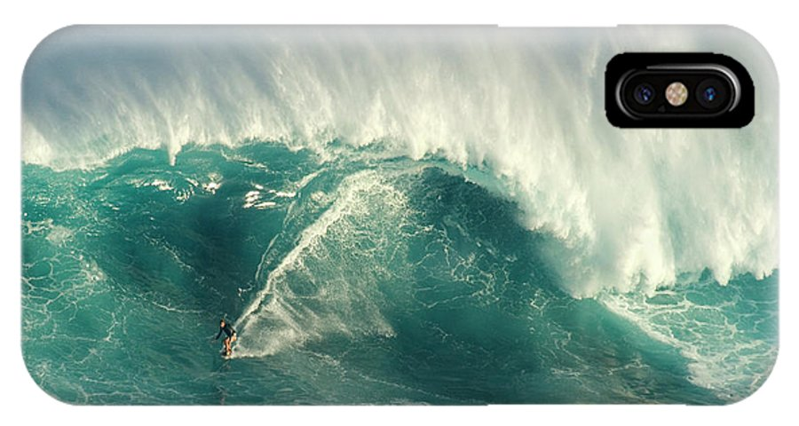 Surf IPhone X Case featuring the photograph Surfing Jaws 2 by Bob Christopher