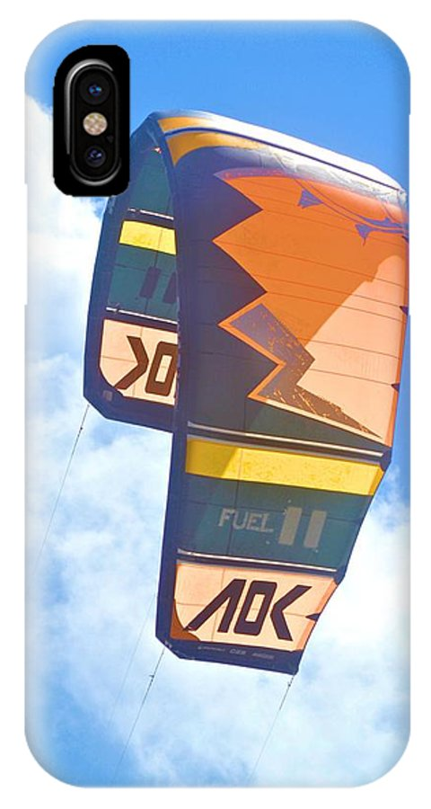 Surfing Kite IPhone X Case featuring the photograph Surfing Kite by Tara Potts