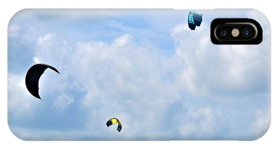 Surfing Kites IPhone X Case featuring the photograph Surfing Kites by Tara Potts
