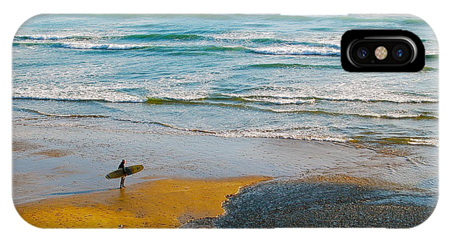 Beach IPhone X Case featuring the photograph Surf's Up by Mark Lemon