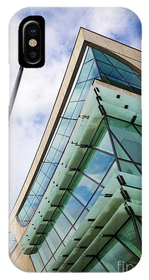 Surrey Public Library IPhone X Case featuring the photograph Surrey Public Library by Chris Dutton