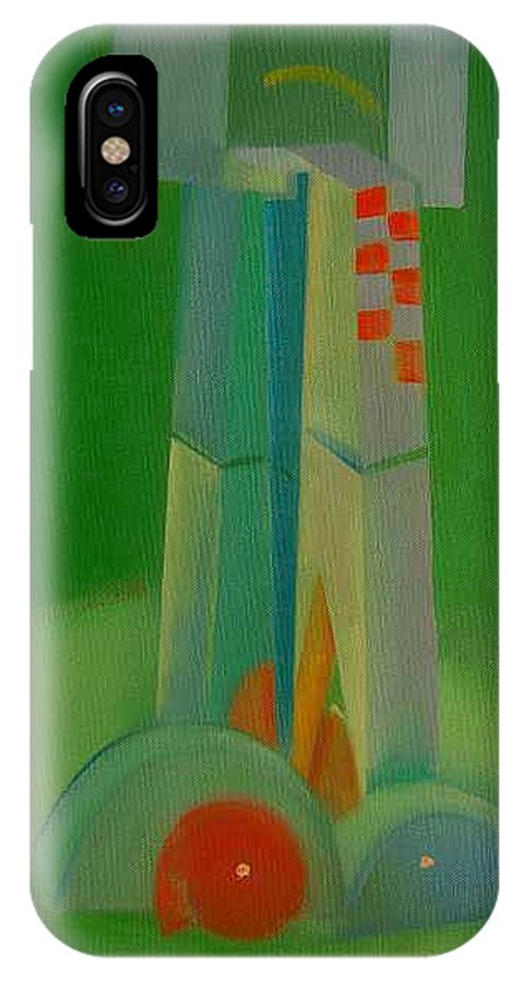 Cubist View Of Figure IPhone X Case featuring the painting Survivors by Charles Stuart