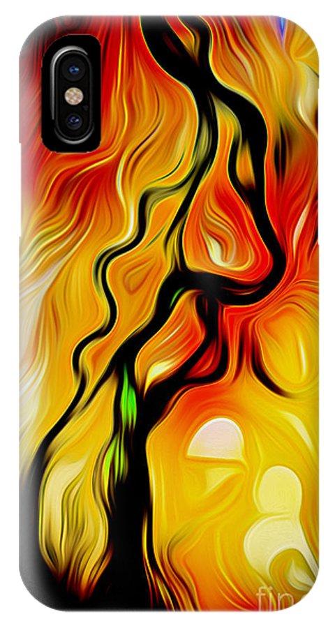 Alaska IPhone X Case featuring the digital art Susitna River Alaska by Phill Petrovic