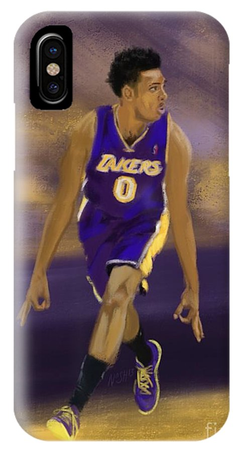 Nick Young IPhone X Case featuring the painting Swaggy 3 by Jeremy Nash
