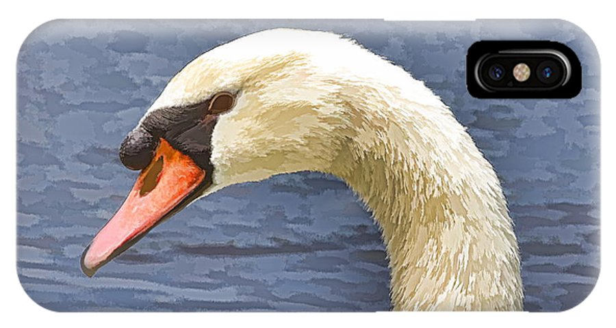 Swan Closeup Bird Water IPhone X Case featuring the photograph Swan Portrait by Alice Gipson