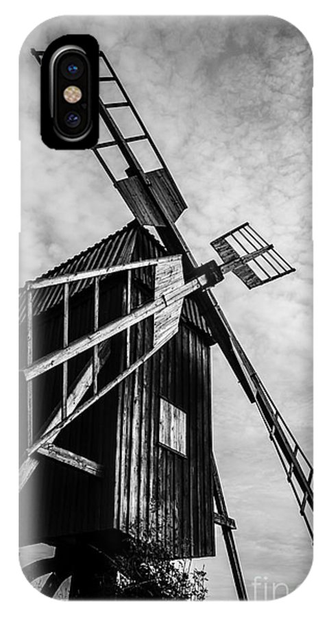 Europa IPhone X Case featuring the photograph Swedish Windmill One Of The 400 Year Old by Peter Noyce