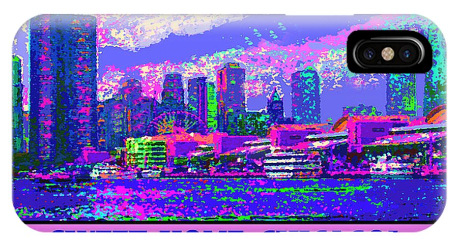 Chicago IPhone X Case featuring the digital art Sweet Home Chicago IIi by Michael Moore