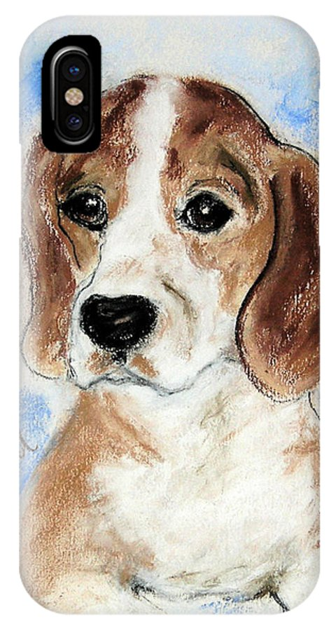 Dog IPhone X Case featuring the drawing Sweet Innocence by Cori Solomon