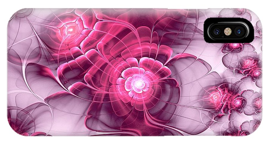 Plant IPhone X Case featuring the digital art Sweet Sakura by Anastasiya Malakhova