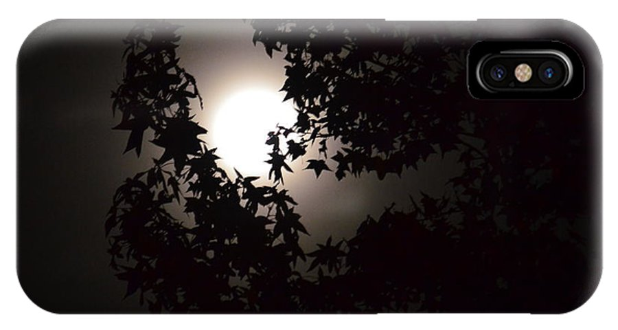 Sweet Silhouette IPhone X Case featuring the photograph Sweet Silhouette by Maria Urso