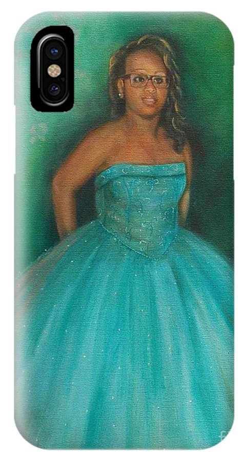 Girl IPhone X Case featuring the painting Sweet Sixteen by Marlene Book