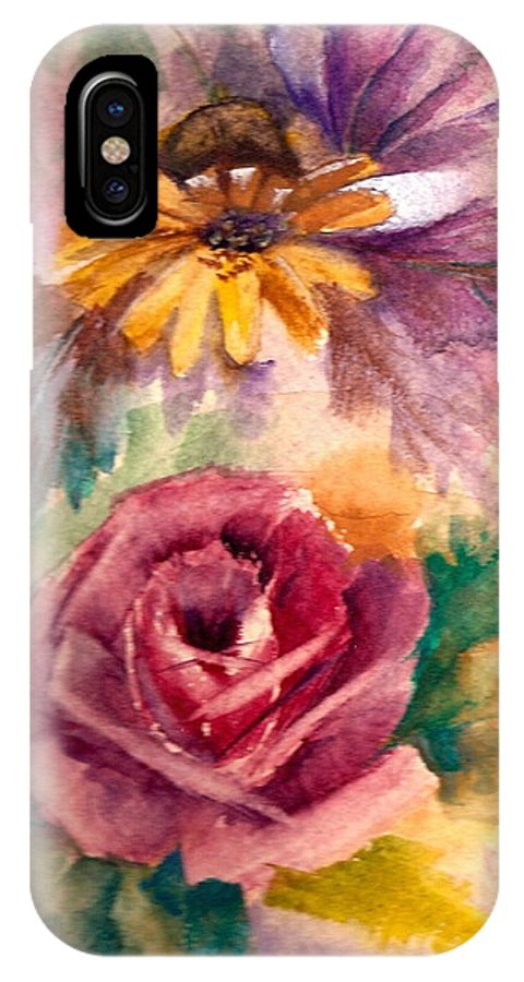 Flowers IPhone X Case featuring the painting Sweetness by Ellen Canfield