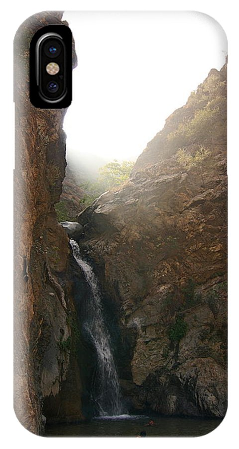 Swimming In Pool IPhone X / XS Case featuring the photograph Swimming In Pool by Viktor Savchenko