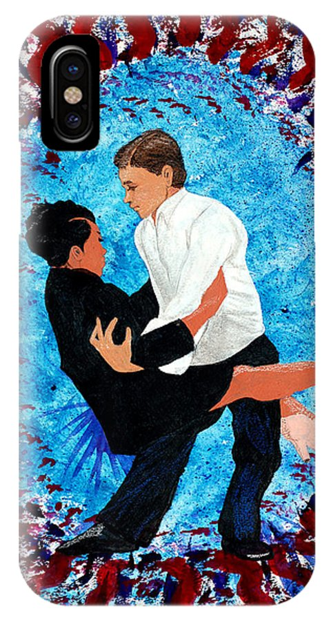 Dance IPhone X Case featuring the painting Swing Shift by Edward Fuller