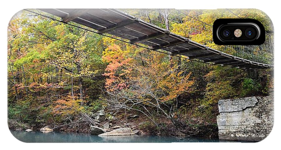 Bridge IPhone X Case featuring the photograph Swinging Bridge by Deanna Cagle