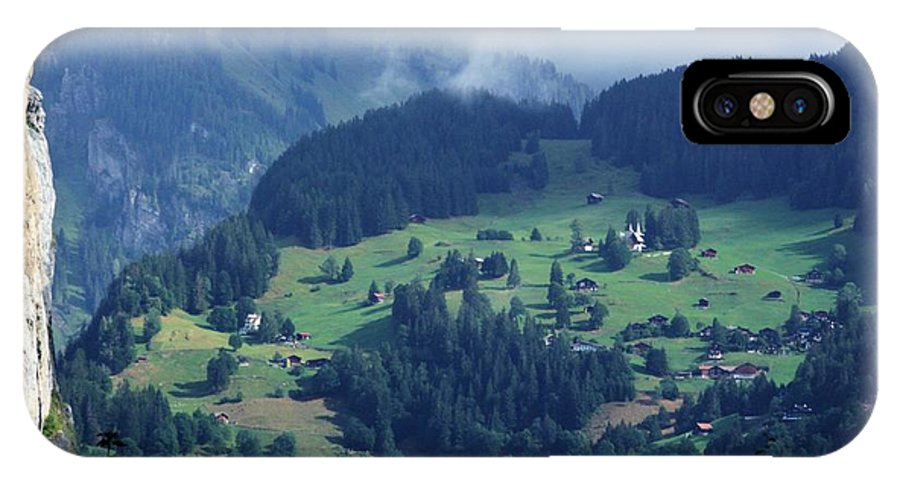 Switzerland IPhone X Case featuring the photograph Swiss Mountain Village by David Broome