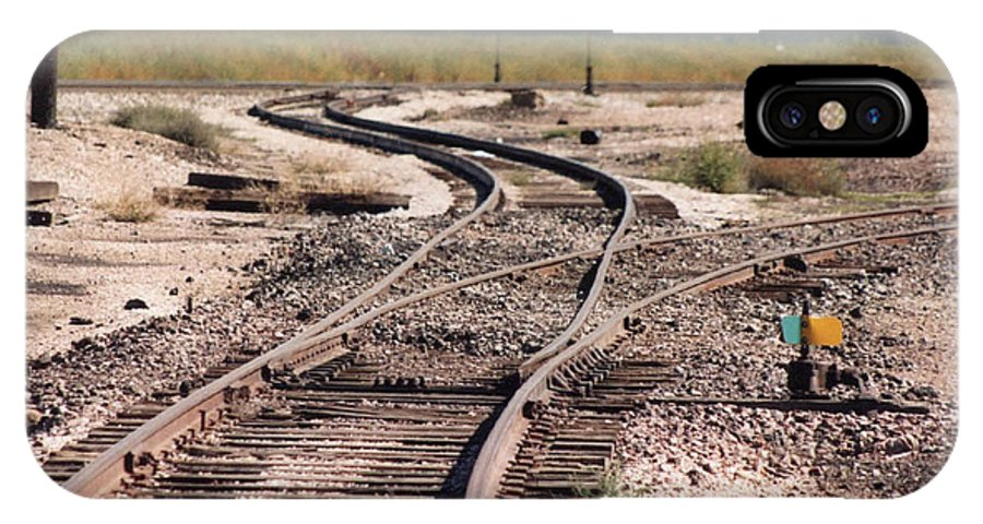 Train IPhone X Case featuring the photograph Switch by Dan Taylor