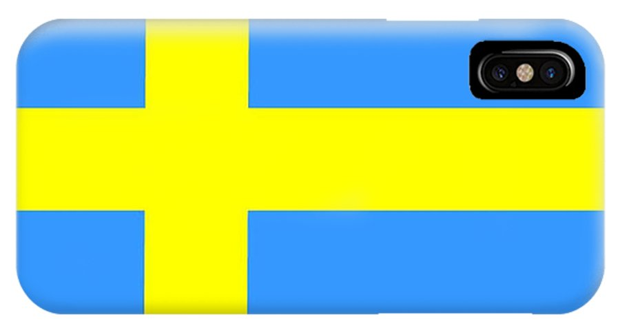 Sweden Flag IPhone X Case featuring the digital art Sweden Flag by Frederick Holiday