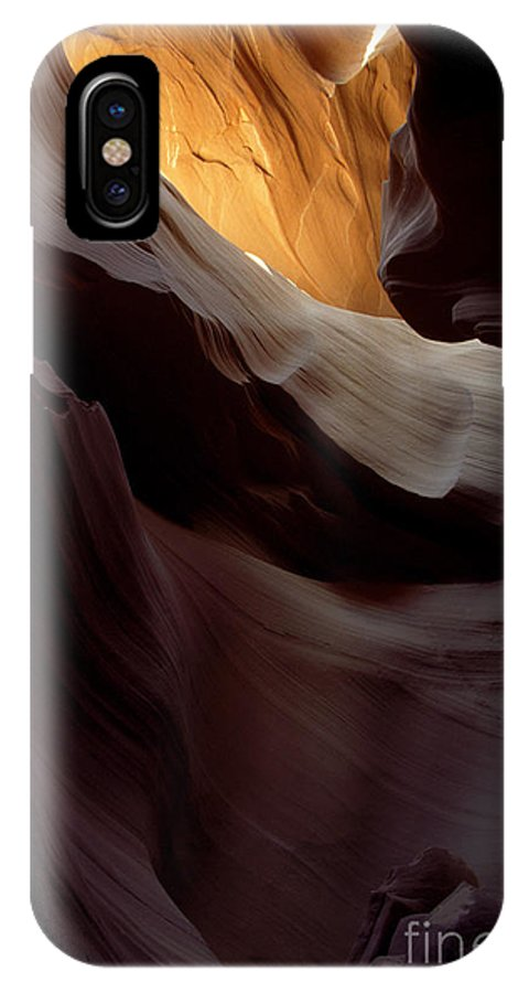 Slot Canyons IPhone X Case featuring the photograph Swopes by Kathy McClure